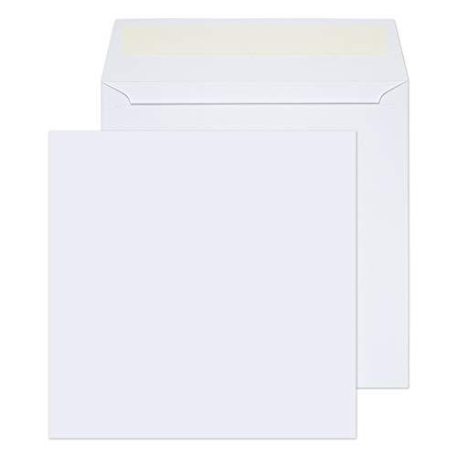 Blake Purely Everyday 155 x 155 mm 100 g/m² Enveloppes Carrées Bande Adhésive (0155PS) Blanc - Boîte de 500