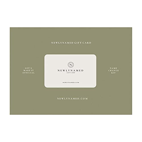 NewlyNamed Box Gift Card   Personalized Name Change After Marriage Kit