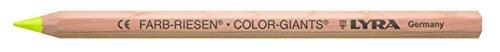 Lyra color Gigantes estuche de cartón natural con 12 lápices de colores, amarillo fluorescente