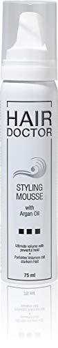 Hair Doctor Styling Mousse Strong mit Arganöl Volumen Schaumfestiger Starker Halt Reisegröße 75 ml