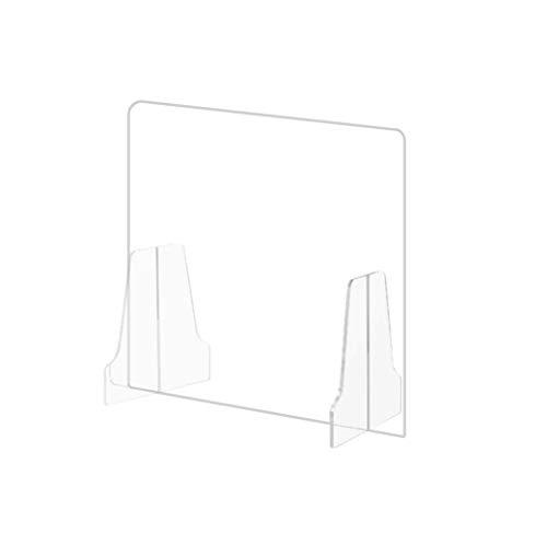 【当日発送】Supracing 飛沫防止 コロナウイルス対策 パーテーション 樹脂パーテーション 透明 クリアパーテーション 対面式スクリーン デスク用仕切り板 飲食店 受付 レジ業務等 [大量注文可、返品交換不可] (AA窓なし 幅45cm*高さ50cm)