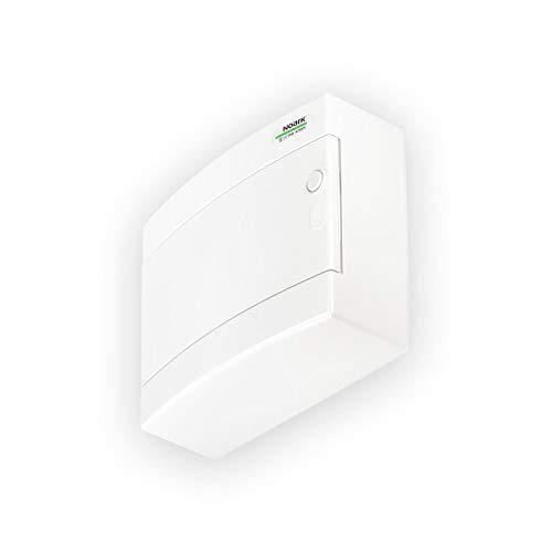 Caja de Distribucion de Superficie Serie PNS T 12 módulos 1x12 fila Gama domestica y terciaria IP40 Puerta blanca Opaca (Blanco, Modelo 12)