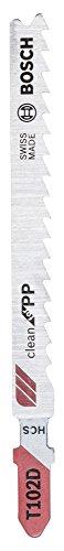 Bosch Professional Stichsägeblatt T 102 D, Clean für PP, 5-er Pack, 2608667444