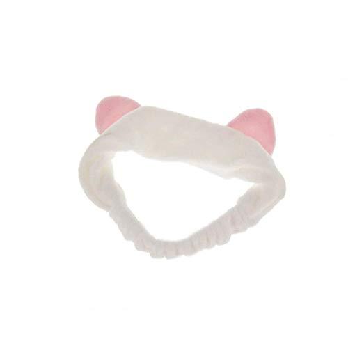 GGOOD Oídos de Gato Cinta elástica Mujeres' s Pelo Precioso Banda Suave Diadema-Lavable Maquillaje Facial Band Adapta a Todos los tamaños de Cabeza, Pendiente