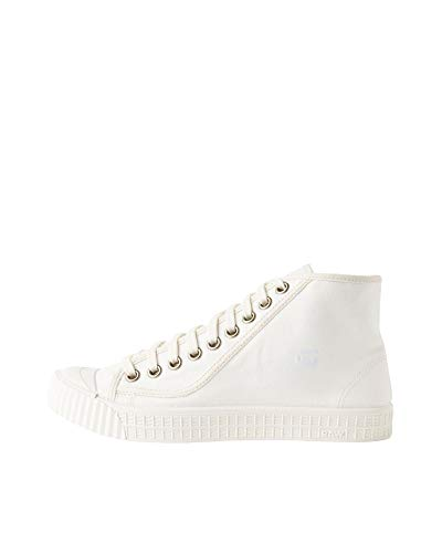 G-STAR RAW Herren Rovulc Denim Mid Sneakers Sneaker, Weiß (White 110), 43 EU
