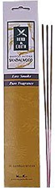 Herb Earth Bamboo Incense Sandalwood 20 Sticks