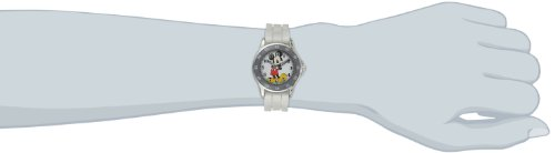 Disney Kids' MK1240 Silver-Tone Watch with White Rubber Band