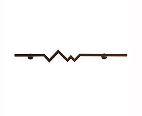 ZXL kledinghaken van ijzer, eenvoudige vormgeving, wandmontage, kapstok, ophanging aan de muur dwarsstang 100 – 120 cm (kleur: A, Ta