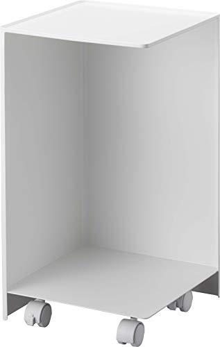 山崎実業(Yamazaki) 袋ごとトイレットペーパーストッカー 12ロール ホワイト 約W23.5XD23.5XH43cm タワー キャスター付き 簡単移動 5280