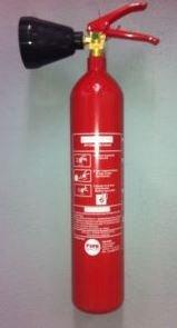 CO2 capacidad extintor 2 Kg NC con soporte de...