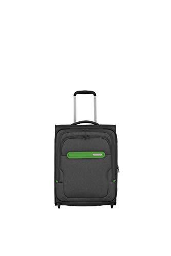 Travelite travelite: Madeira – sehr leichte Trolleys, Trolley-Taschen, Reise- und Bordtaschen plus Weekender Koffer, 55 cm, 41 Liter, Anthrazit/Grün