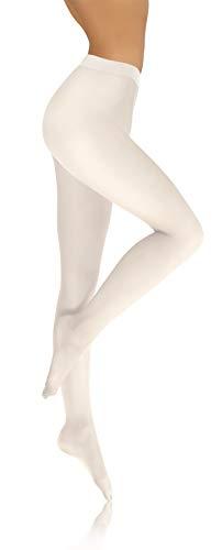 sesto senso Collant Donna in Microfibra Opaco 40 Den 3 Bianco
