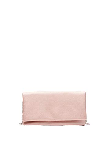 s.Oliver Damen Clutch mit Schulterkette metallic rose 1