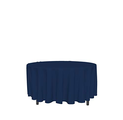 Soleil d'ocre 815240 Mantel Antimanchas Redondo 180 cm Alix Azul Marino