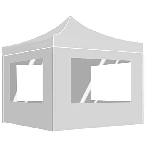 HUANGDANSP Carpa Plegable Profesional con Paredes Aluminio Blanco 2x2 m Casa y...