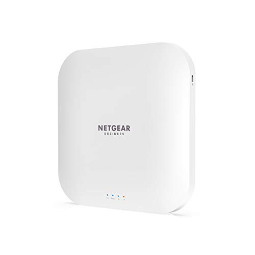 NETGEAR WAX218 WiFi 6 WLAN Access Point PoE+ (Dualband 3600 MBit/s | 2.4GHz/5GHz | 1x 2.5G PoE+ LAN-Port | AX3600 mit WPA3 | bis zu 4 separate WLAN-Netzwerke | PoE-powered - Netzteil optional)