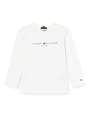 Tommy Hilfiger Essential Tee L/s Camicia, White, 92 Bambino