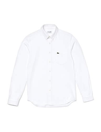 Lacoste Herren CH2947 Klassisches Hemd, Blanc, S
