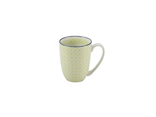 Creatable Mediterran Kaffeebecher/Henkelbecher/Tasse aus Steingut Grün spülmaschinenfest 300 ml