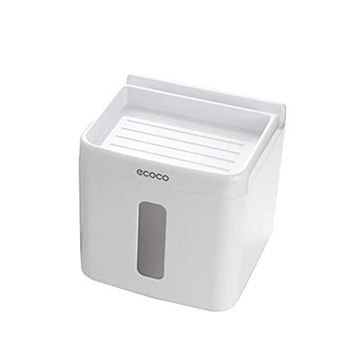 YLJY Soporte para Caja de pañuelos de baño para Montaje en Pared,Caja de Papel higiénico,Rollo de Papel aplicable,Toalla de Papel Plegable Dispensador de Toallas de Papel Plegado
