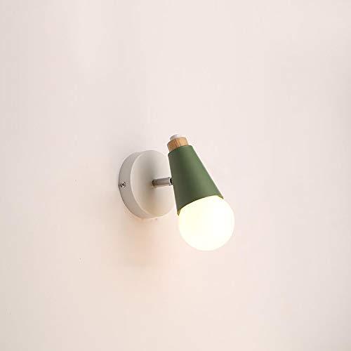 DSYADT Aplique de Pared Modern Simplicity Shine Lámpara de Pared E27 Lámpara de Noche de Metal de Hierro 6W Accesorio de Luces para Dormitorio Restaurante Cafe 1 Lámpara