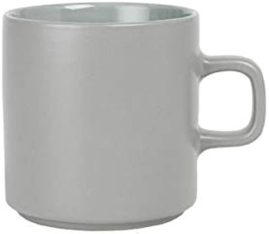Blomus MIO Ceramic Coffee Cup 9 Oz Mirage Gray Set Of 4