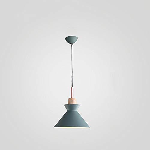 American Creative Coffee hanglamp slaapkamer bedlampje modern Macaron E27 1-licht hanglamp winkel restaurant plafond haning lantaarn, D-B Groen-diameter 25 cm.