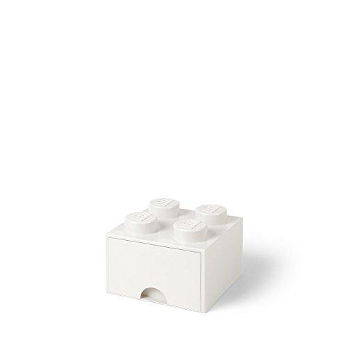 Tiroir en brique LEGO 4 boutons, 1 tiroir, boîte de rangement empilable, 4.7 l