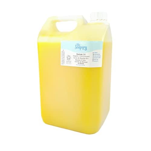 Aceite de baobab orgánico, 5 litros, prensado en frío, crudo, puro, sin refinar