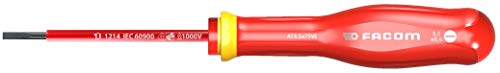 Facom AT3.5X75VE 5X75VE-Destornillador Aislado Plano 1000V PROTWIST 3.5X75