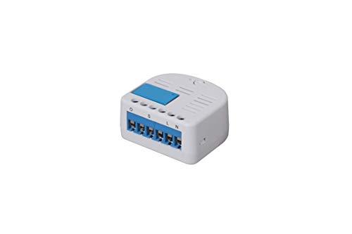 Lupus-Electronics 12126 Lupus 1 Kanal Relais für die XT Smarthome Alarmanlagen, inkl. Zigbee Repeater, Neue kleinere Bauform, Blau, Weiß