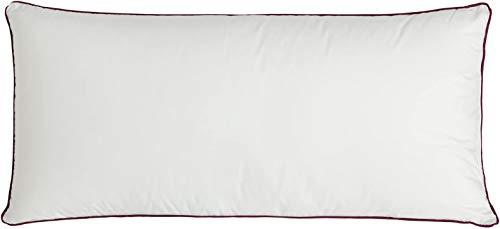DHestia - Almohada de Viscoelástica + Fibra Termorreguladora con adaptación Cervical y Tejido Algodón 100%. ViscoFibra (120 cm)