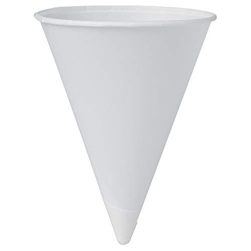 Solo 4R-2050 4 oz White Paper Cone Cups (Case of 5000)