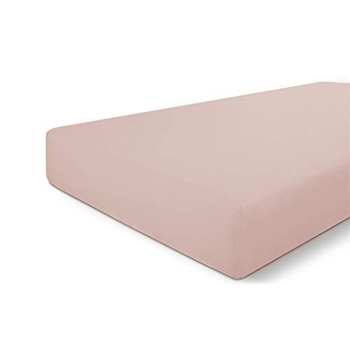 Walra Sábana bajera 180 x 200, 100% algodón, ajuste perfecto para el colchón, sensación suave, no se arruga ni necesita planchado, color rosa antiguo