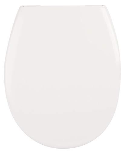 Calmwaters® Premium WC Sitz Toilettendeckel antibakteriell, Made in EU, Klodeckel Absenkautomatik Softclose, abnehmbar oval, Toilettensitz Duroplast weiß, Edelstahl-Befestigung, WC Deckel & Klo Brille