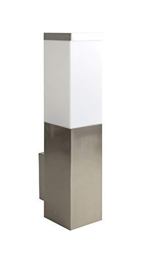 Trango TG8008 IP44 Außenleuchte, Wandleuchte aus Edelstahl & Kunststoff mit E27 Fassung - Passend für alle LED Leuchtmittel Außenbeleuchtung, Außenwandleuchte, Außenlampe, Gartenleuchte