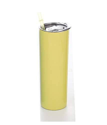 YUANLIN Taza de café 20oz Skinny Tumbler Slim Top con la Tapa del Sello y la Pared Doble de Acero Inoxidable de la Paja 304 Mantener el matraz de Bebidas Calientes y Frescas Taza de café Reutilizable