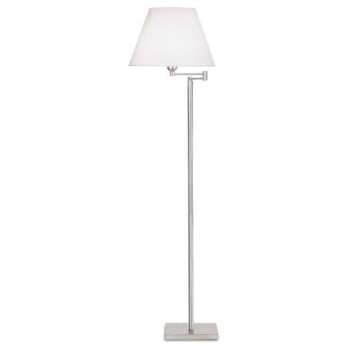 LEDs-C4 176 NS-Lampadaire de salon dover 1xe27 nickel satinad max 60w