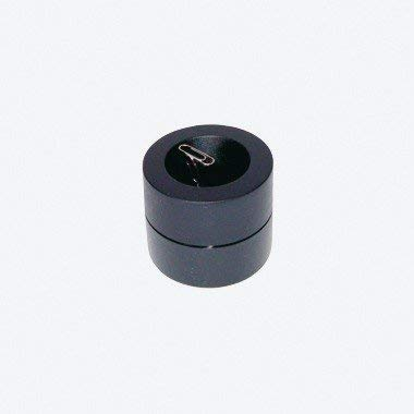 Wedo 270401 Magnet-Klammernspender (rund, mit Zentralmagnet inklusive Büroklammern) schwarz