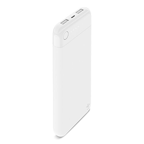 Belkin Boost Charge Powerbank 10K mit Lightning Connector (MFI-zertifiziertes, portables 10.000 mAh Lightning Ladegerät für iPhone 11, 11 Pro/Pro Max, X, XS, XS Max, XR, SE, 8/8+, iPad) Weiß