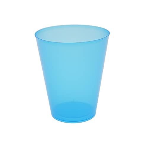 8around 25 Vasos plástico irrompibles flexible reutilizable libre de BPA de 470ml, azul translucidos,especial coctel mojito cubata agua sidra para fiestas camping playa picnic barcos hogar