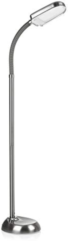EASYmaxx 06610 LED-Standleuchte Daylight  Tageslichtlampe, Augenschonend, Energiesparend  flexibler Lampenhals, Edelstahl