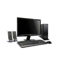 Acer Aspire X3810 One Box - Ordenador de sobremesa (E5400, Escritorio pequeño, Intel Pentium de doble núcleo, DVD Super Multi, Negro, AMD Radeon HD 5450)
