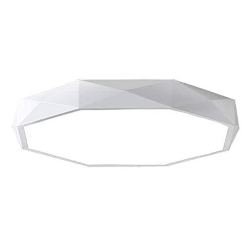 Eclairage JT- Plafonnier Rond LED Plafonnier Acrylique Salon Chambre à Coucher Bureau Lumière Blanche Trois Gradations Gradées Durable (Color : Three-Color dimming, Size : White -60cm)