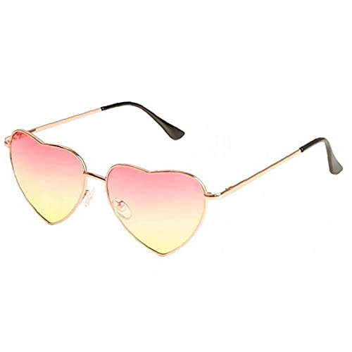 Heart Shaped Sunglasses Thin Metal Frame Hippie Style Eyewear Adjustable Eyeglass Outfit Accessories for Women Girls