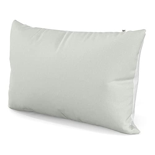 Wolkenfeld Kissenbezug 70x90 Grau Weiß - kuschelig weich & bügelfrei - Superweicher Kopfkissenbezug - Kissenhülle mit verdecktem Reißverschluss