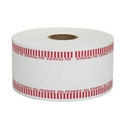 Coin-Tainer Automatic Coin-Wrapper Roll, Pennies, Red, Roll of 1,900