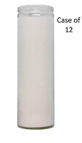 Candle Vigil Candle Prayer Candle Novena Vigil Candles Devotional Candles (12 Pack) (Pick Your Color) Holiday Candle Paraffin Wax (White 7 Day Candle 12 Pack Vigil Candle)