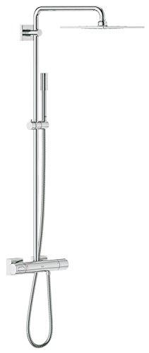 GROHE Rainshower F-Series 254 | Brause- und Duschsysteme - DUSCHSYSTEM | eckig mit Sena Handbrause | 27469000
