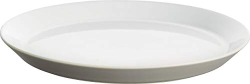 Alessi - DC03/1 LG - Tonale piatto piano in ceramica stoneware, Light Grey - set da 4